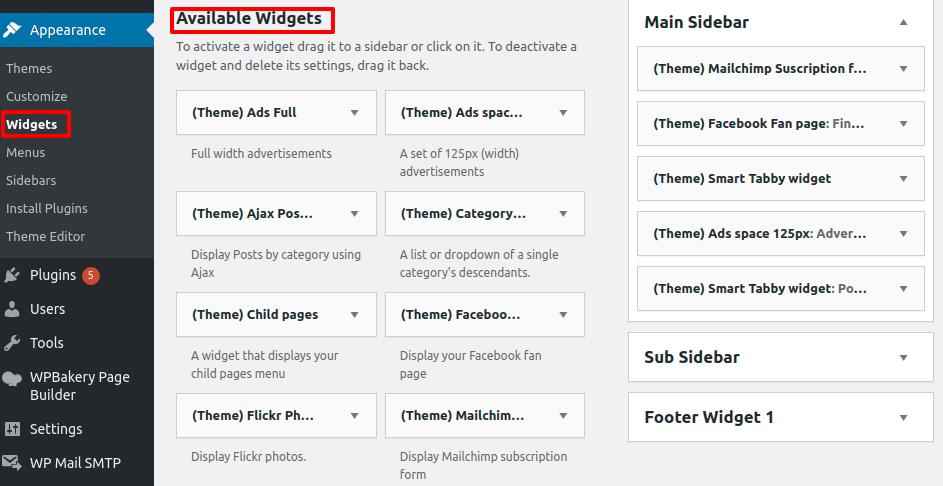 Add a Navigation Menu to Sidebar in WordPress