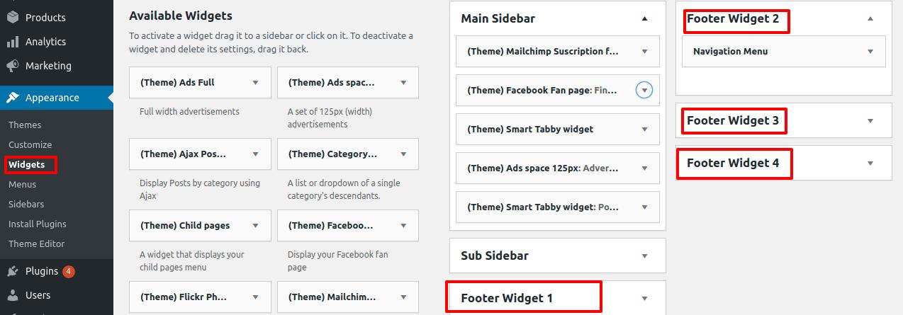 edit-footer-in-wordpress
