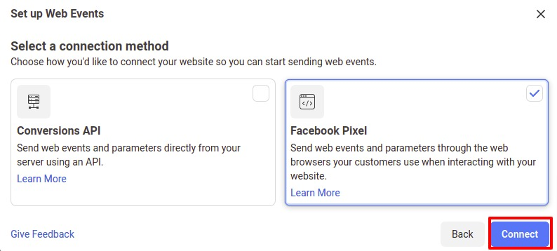 connect Facebook Pixel with WordPress