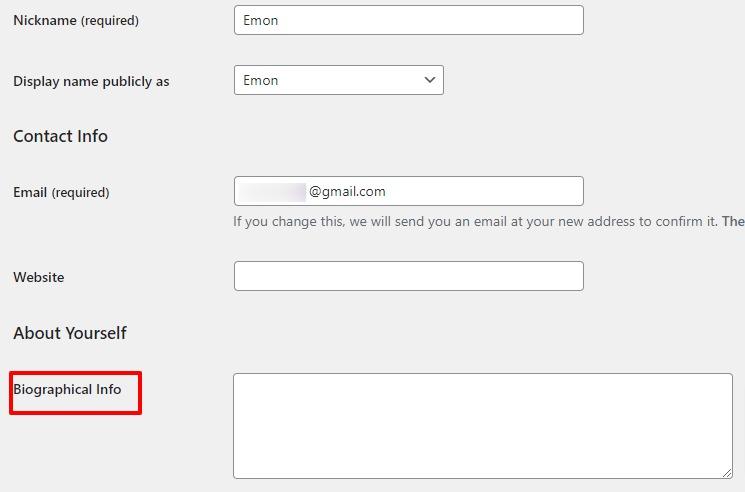 add author info in WordPress posts
