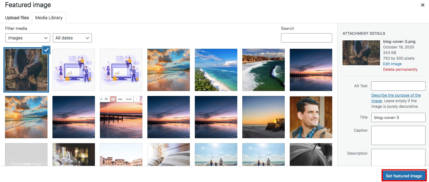 add featured image