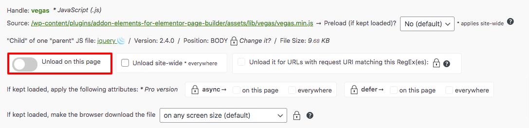 remove unused CSS in WordPress
