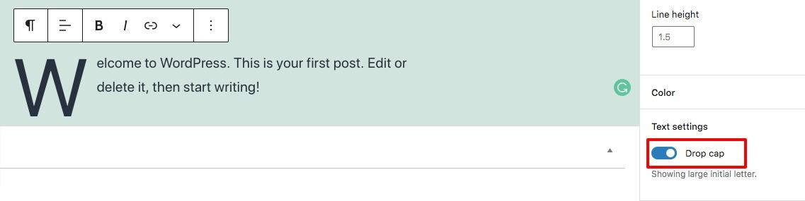 Add Drop Caps in WordPress Posts