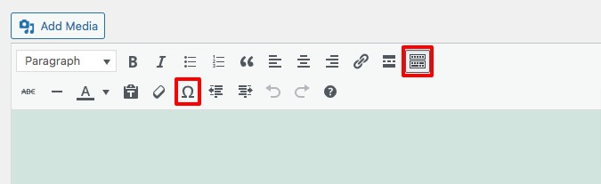 add special characters in WordPress