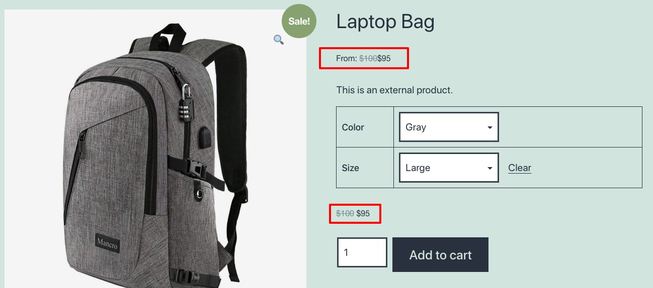 disable the price range in WooCommerce variable products