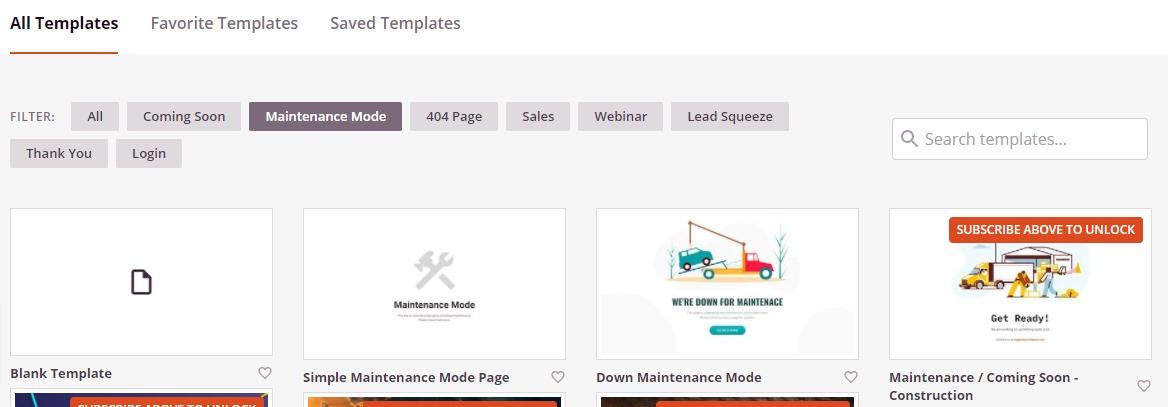 enable maintenance mode in WordPress